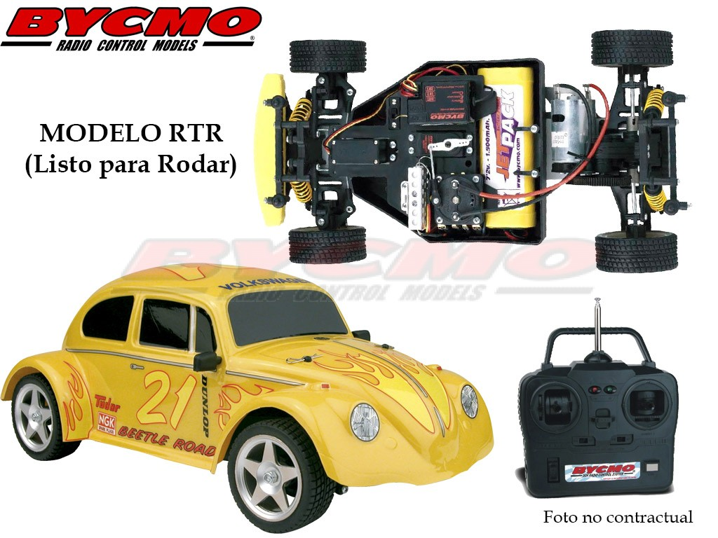 COCHE VW BEETLE ELECTRICO 2WD AMARILLO RTR