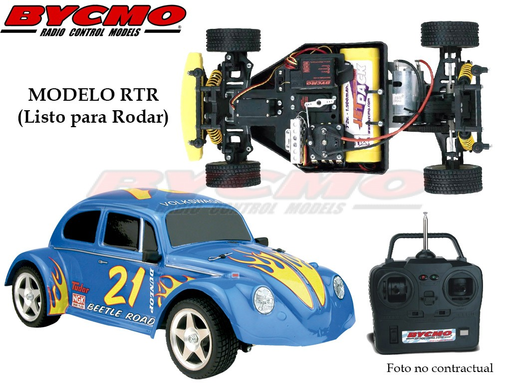 COCHE VW BEETLE ELECTRICO 2WD AZUL RTR