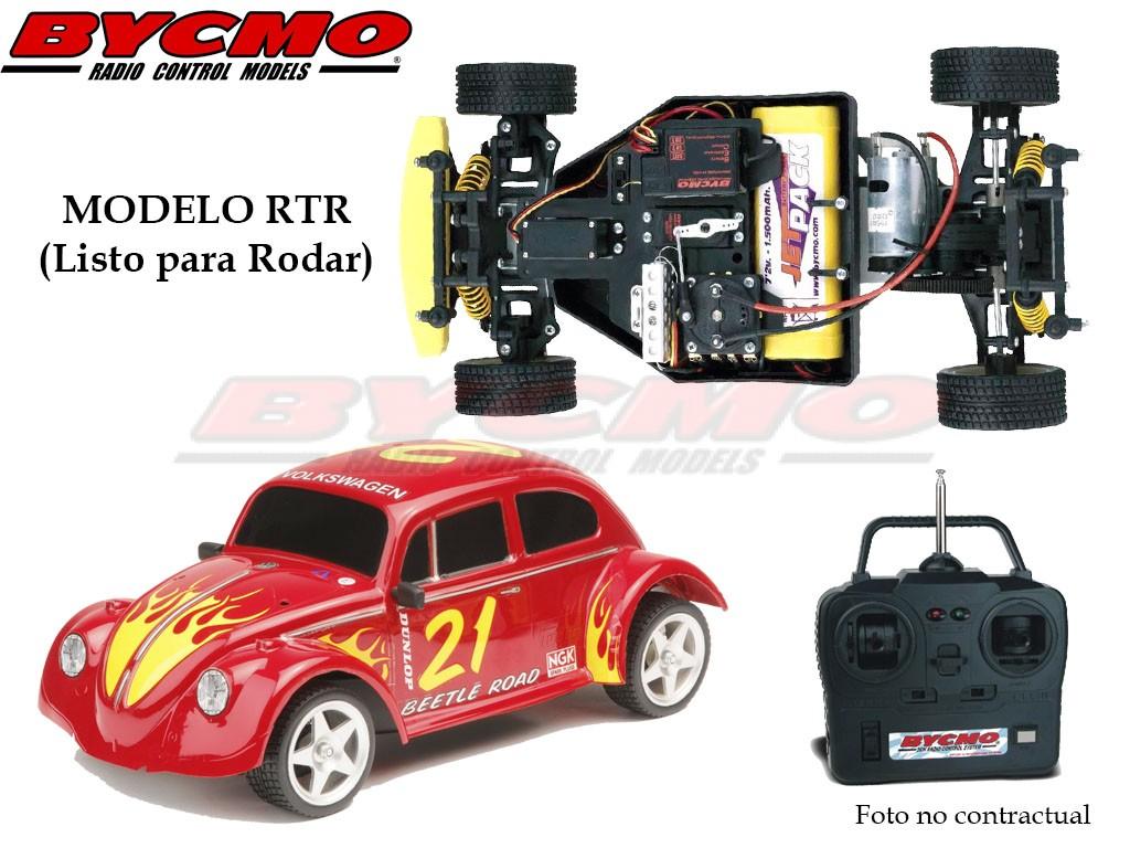 COCHE RC VW BEETLE ELECTRICO 2WD ROJO RTR 1/10