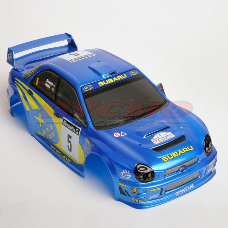 CONJUNTO CARROCERÍA SUBARU WRC 2002 ELÉCTRICO 1/10 (DECORADA) (1ud.)