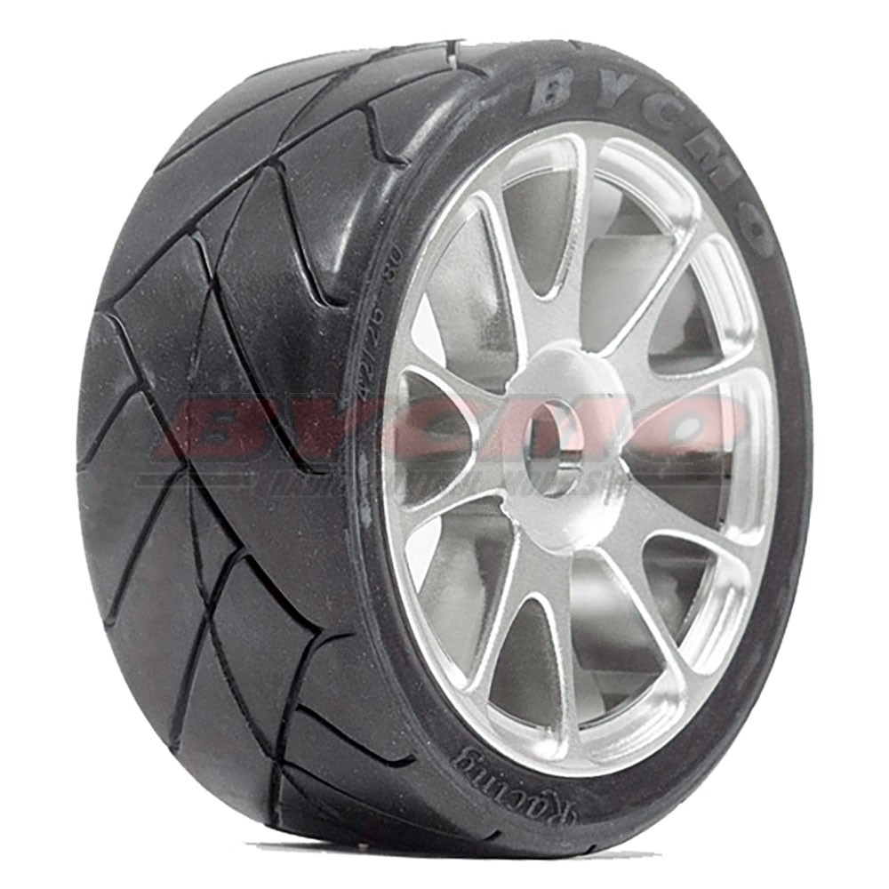 RUEDA R. RUN SPEED PRO 10P CROMADA 1/7-1/8 Ø12mm. (2ud.)