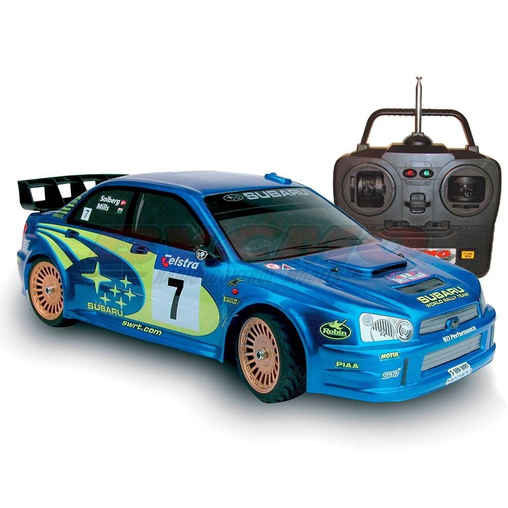 COCHE SUBARU WRC 2003 4WD 1/10 TERMICO +EQUIPO R/C STICKS
