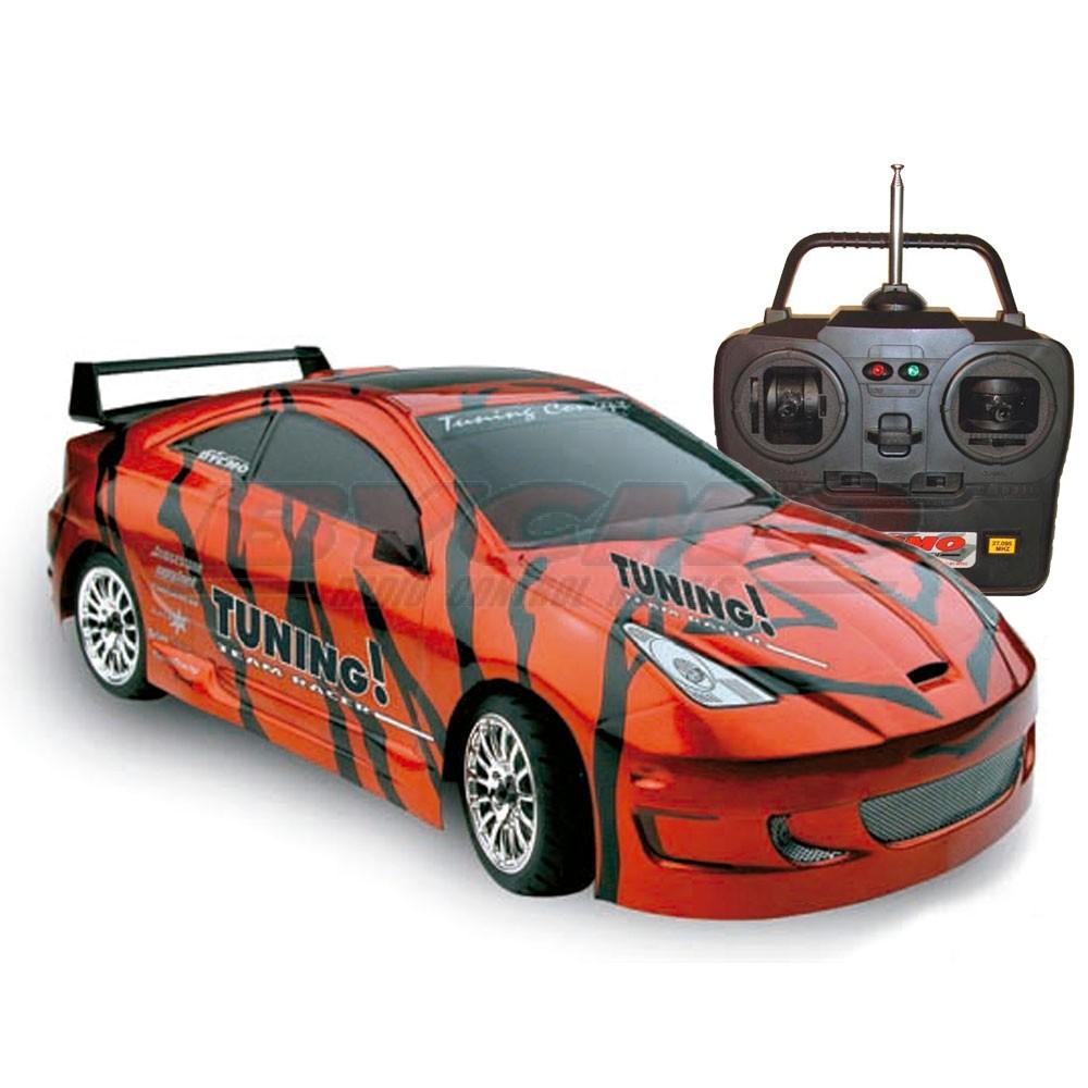 COCHE TUNING GT TIGER 4WD 1/10 TERMICO +EQUIPO R/C STICKS