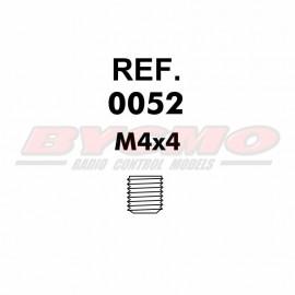 ESPARRAGO ALLEN M4x4 (12u) [RF.0052]