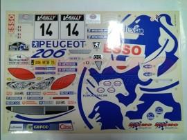 DECORACION PEUGEOT 206 WRC (BLANCO) (1ud.)