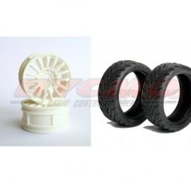 CONJUNTO NEUMATICO 7002+LLANTA 1810 HEX 12 mm+FOAM 1/10 (4ud.)
