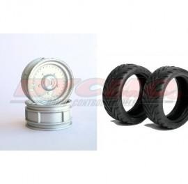 CONJUNTO NEUMÁTICO 7002+LLANTA ALUMINIO 9000 HEX 12 mm+FOAM 1/10 (4ud.)