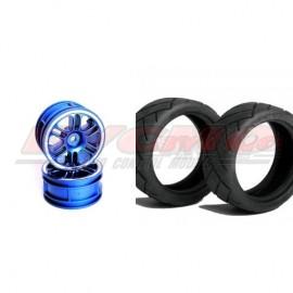 CONJUNTO NEUMÁTICO 7060 +LLANTA 14000 HEX 12mm+FOAM 1/10 (4ud.)