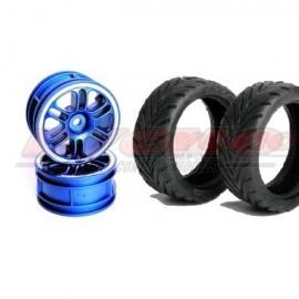 CONJUNTO NEUMÁTICO 7002+LLANTA 14000 HEX 12 mm+FOAM 1/10 (4ud.)