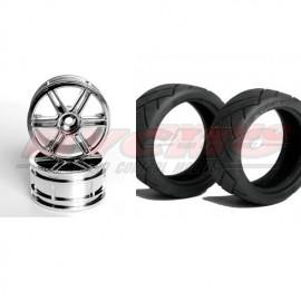CONJUNTO NEUMÁTICO 7060 +LLANTA 14001 HEX 12mm+FOAM 1/10 (4ud.)