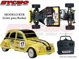 COCHE RC CITROËN 2CV ELECTRICO 2WD AMARILLO RTR 1/10