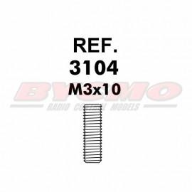 ESPARRAGO ALLEN M3x10 D. 913 (12u) [RF.3104]
