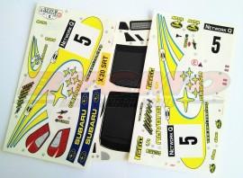 DECORACIÓN SUBARU WRC 2002 1/10 (1u. 3 HOJAS)