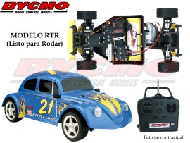 COCHE RC VW BEETLE ELECTRICO 2WD AZUL RTR 1/10