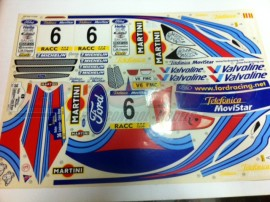 DECORACION FORD FOCUS WRC (1u)  (2 hojas) ref 1269