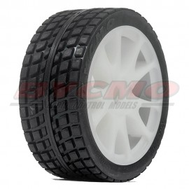 RUEDA R. RUN RALLY PRO 10P BLANCA 1/7-1/8 Ø12mm. (2ud.)