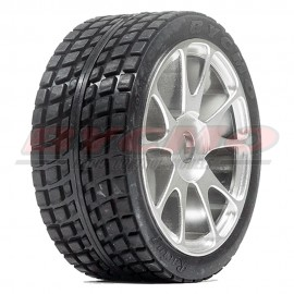 RUEDA R. RUN RALLY PRO 10P CROMADA 1/7-1/8 Ø12mm. (2ud.)