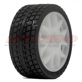 RUEDA R. RUN RALLY PRO 10P BLANCA1/7-1/8 Ø8mm. (2ud.)